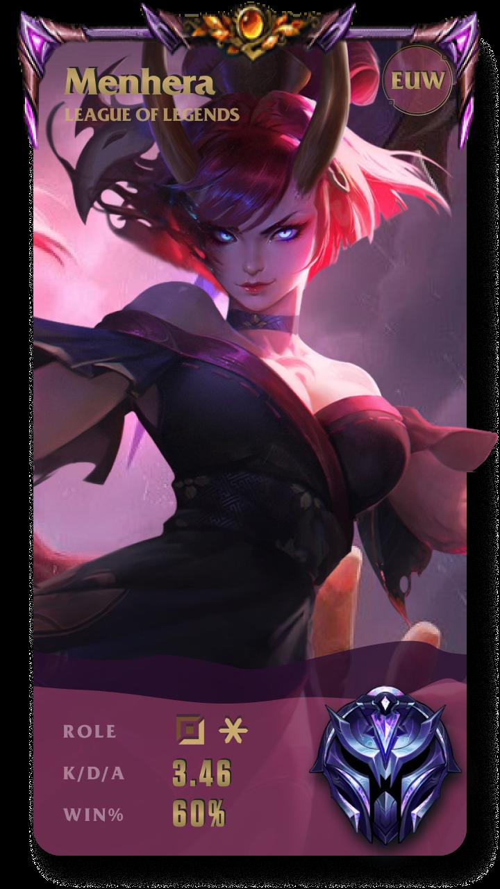 Menhera League of Legends Gamecard