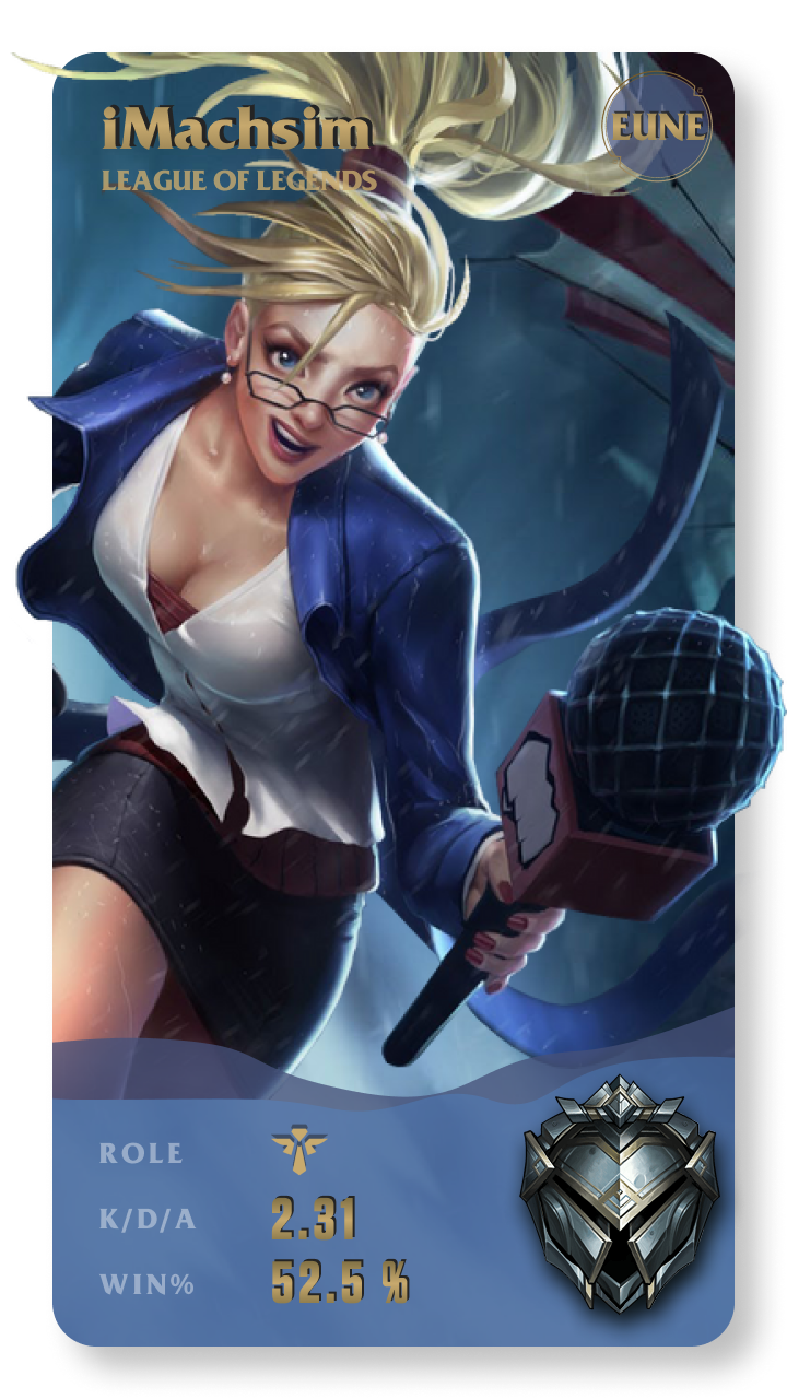 iMachsim League of Legends Gamecard