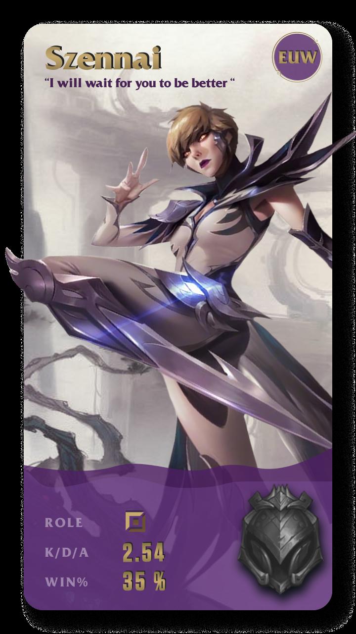 Szennai League of Legends Gamecard