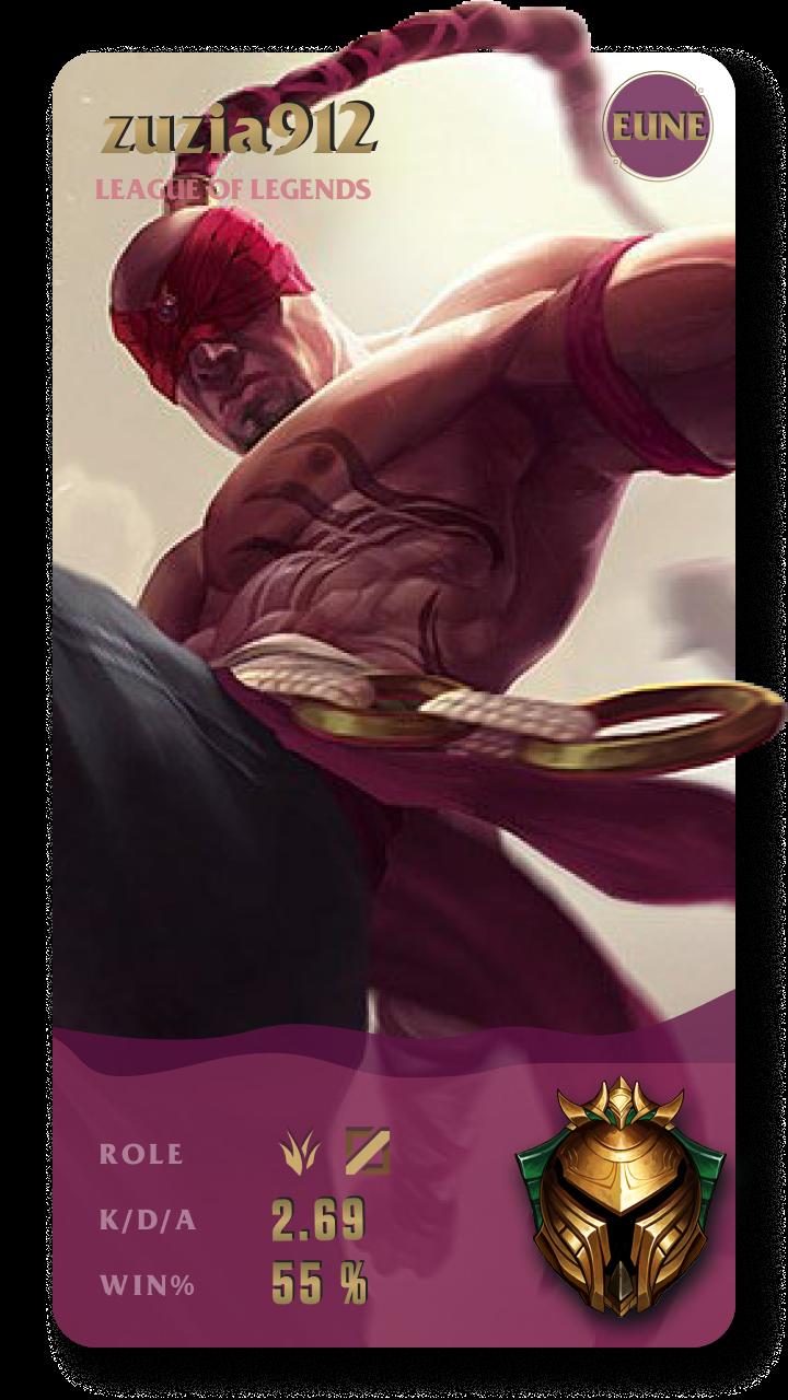 zuzia912 League of Legends Gamecard